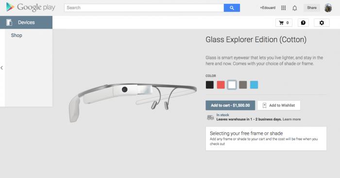 Google Glass : elles font leur entrée sur le Google Play et la version grand public sera commercialisée en 2015