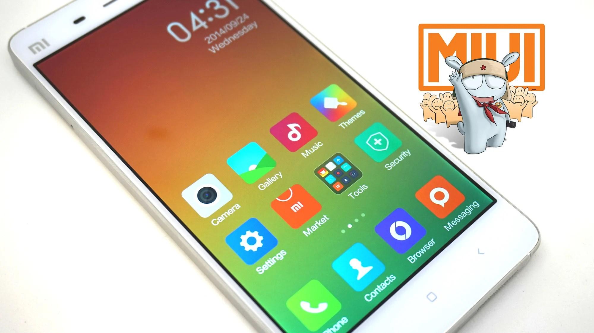 MIUI V6 : une interface taillée pour le Xiaomi Mi4