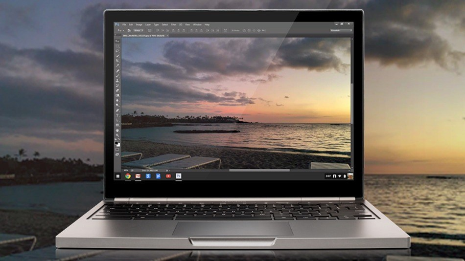 Photoshop Streaming arrive sur Chromebook