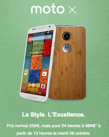 Les Moto X et Moto 360 disponibles aujourd'hui en France, avec une promotion chez Motorola