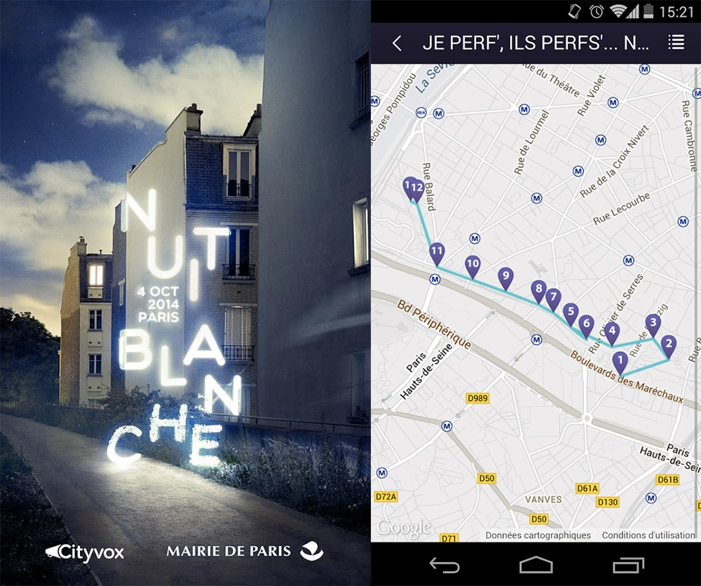 L'application Nuit Blanche Paris 2014, l'indispensable des Parisiens