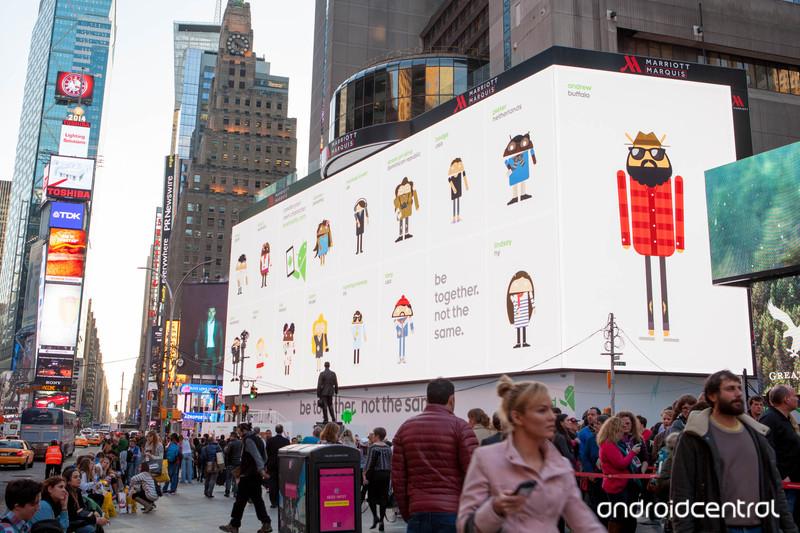 Google utilise le plus grand écran du monde pour promouvoir Android