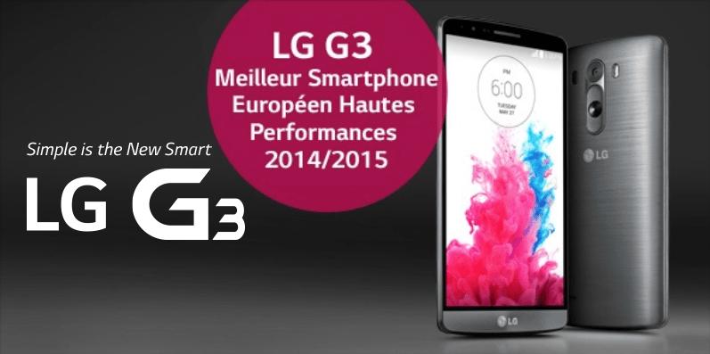 Bon plan : le LG G3 est à 349,60 euros ce week-end