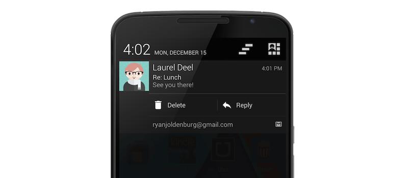 Pushbullet permet maintenant d'interagir avec les boutons d'actions de la barre de notification