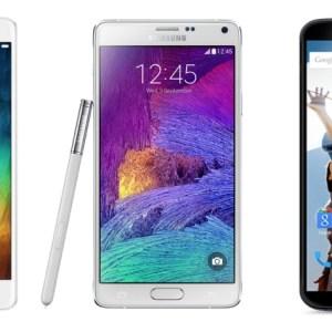 Comparatif : le Xiaomi Mi Note Pro face au Samsung Galaxy Note 4 et au Nexus 6