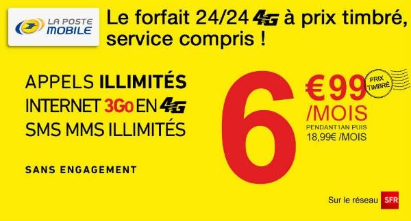 Bon plan : 3 Go en 4G à 6,99 euros par mois chez La Poste mobile