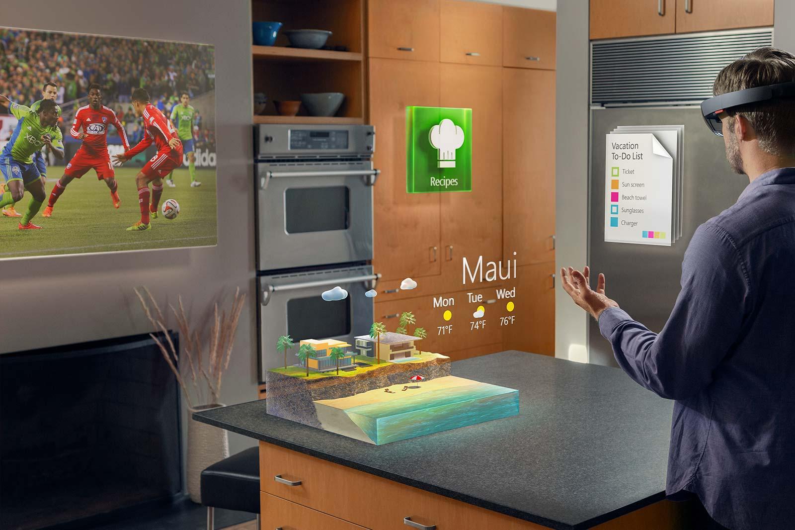 HoloLens : Microsoft dévoile un casque de réalité augmentée très excitant