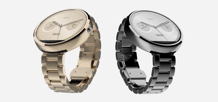 La Moto 360 arrive enfin en France avec des bracelets en métal
