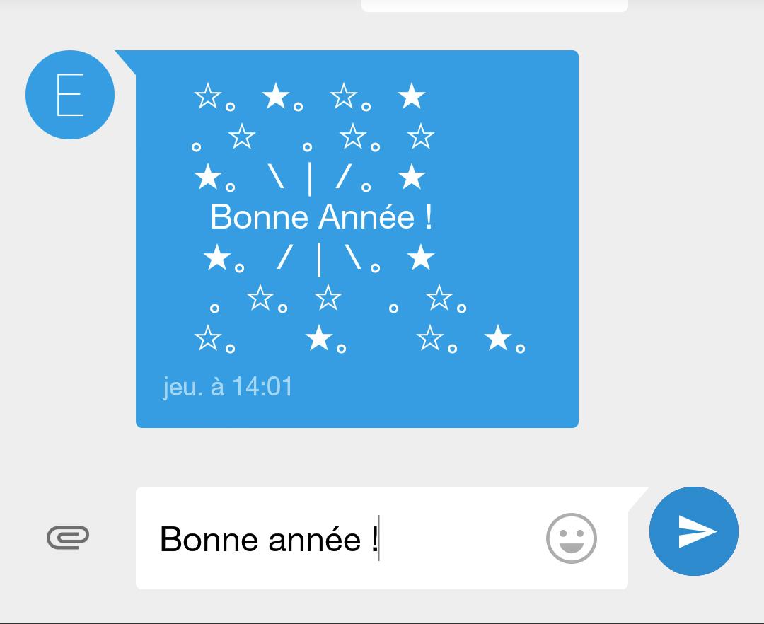 Au réveillon du Nouvel An, les SMS de vœux en nette baisse