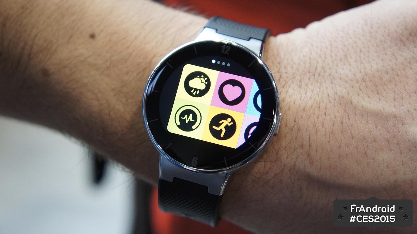 Prise en main de la Alcatel One Touch Watch, une montre multiplateformes à bas prix