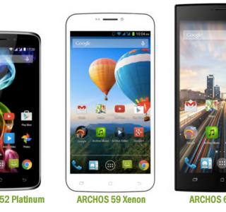 Archos voit grand à petits prix avec les 52 Platinum, 59 Xenon et 62 Xenon