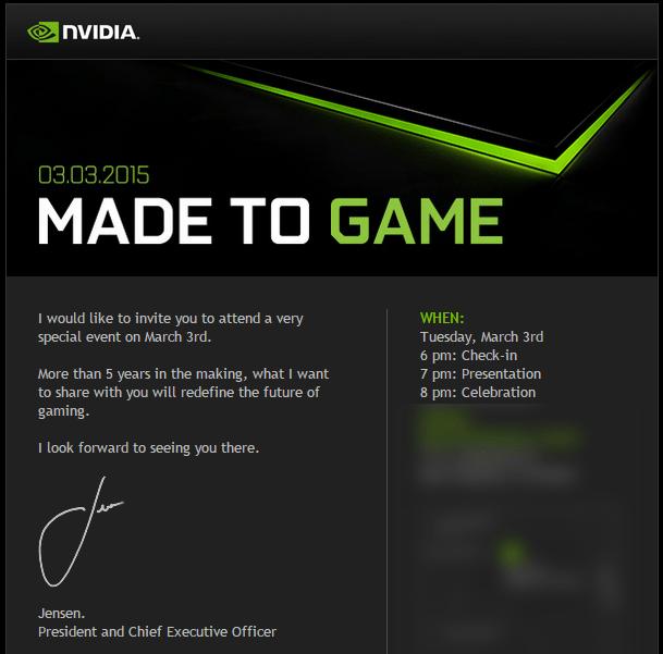 Nvidia : la Shield Tablet en Tegra X1 annoncée le 3 mars prochain ?