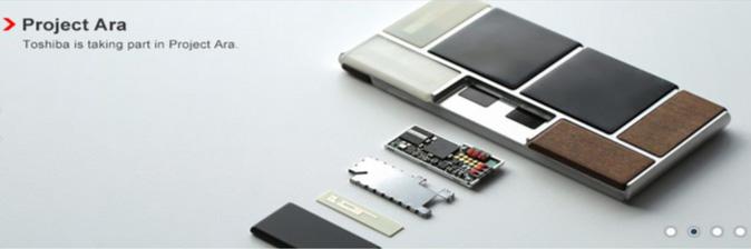 Projet Ara : Toshiba est en fait l'un des piliers du projet