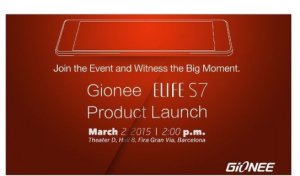 Gionee présentera son Elife S7 au MWC 2015