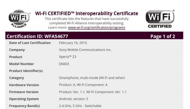 Sony Xperia Z3 : Android 5.0 Lollipop semble fin prêt à être déployé