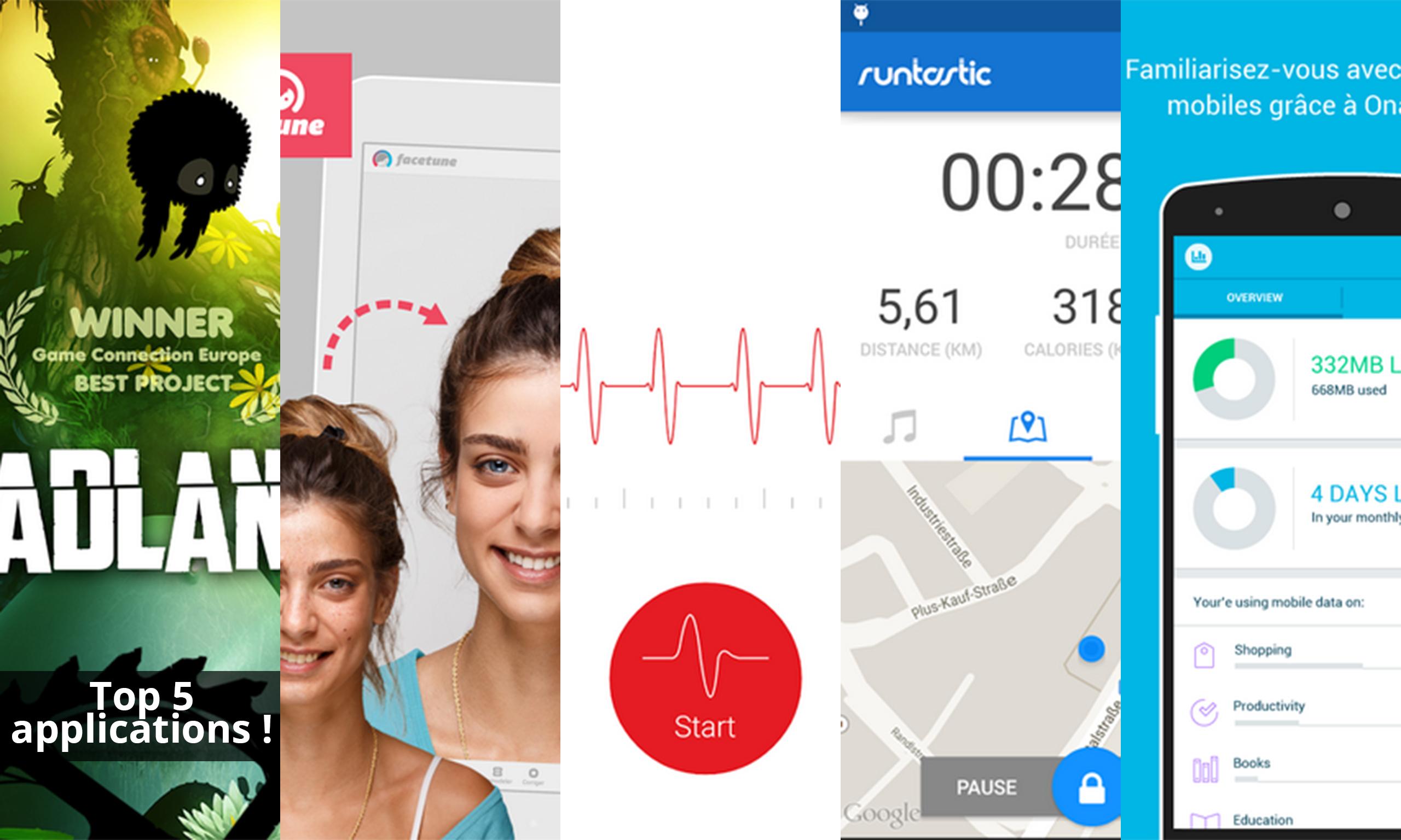 Les apps de la semaine : BADLAND, Facetune, Cardiographe, Runtastic et Onavo Count