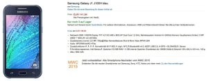 Les Samsung Galaxy J1 arrivent en Europe