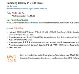 Les Samsung Galaxy J1 arrivent en Europe