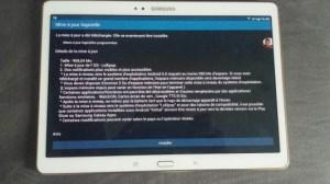 La Samsung Galaxy Tab S 10.5 reçoit Lollipop en France !