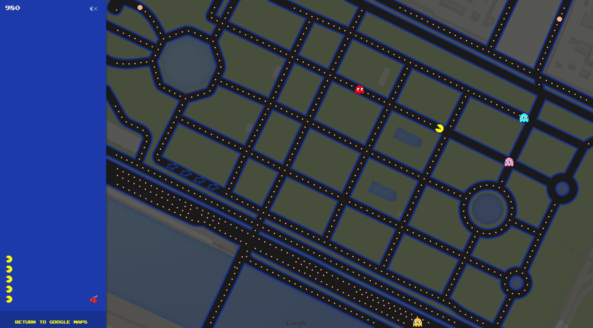 Google Maps transforme vos rues en jeu de Pacman