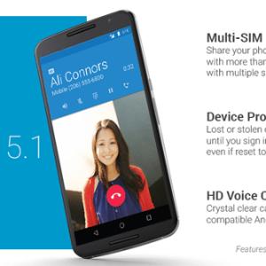 Android5.1 : la factory image disponible pour le Nexus6