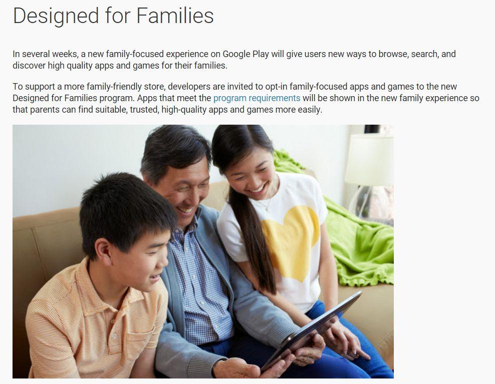 Avec «Designed for Families», le Play Store va bientôt ouvrir une section dédiée aux enfants