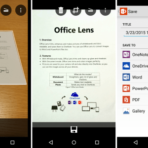 Office Lens transforme votre smartphone Android en scanner portable