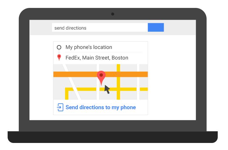 Google simplifie le partage d'un itinéraire Maps d'un ordinateur vers un smartphone
