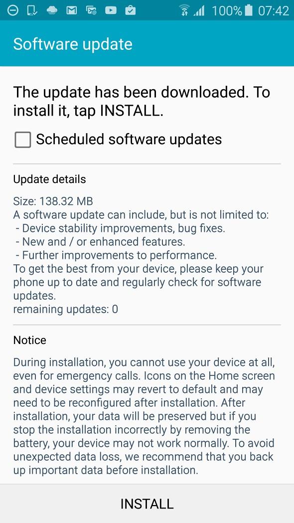 Samsung Galaxy S6 : une mise à jour qui améliore les performances