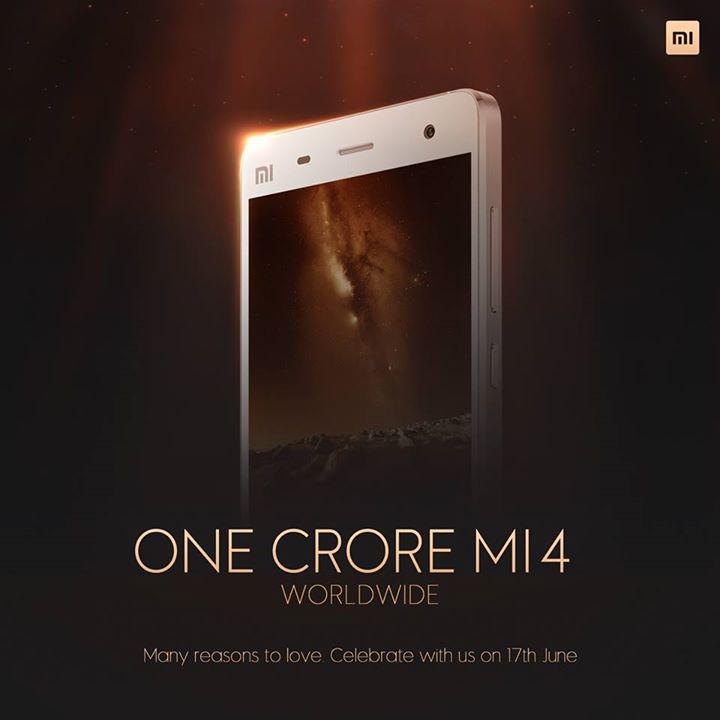 Mi4 : Xiaomi annonce avoir franchi le cap des 10 millions d'unités vendues