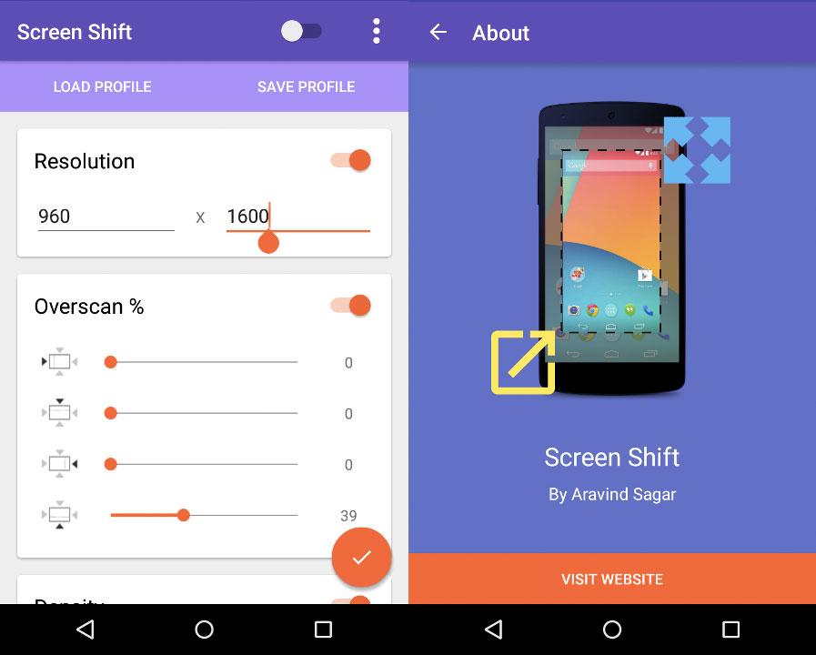 Screen Shift vous permet de modifier la définition de votre écran manuellement