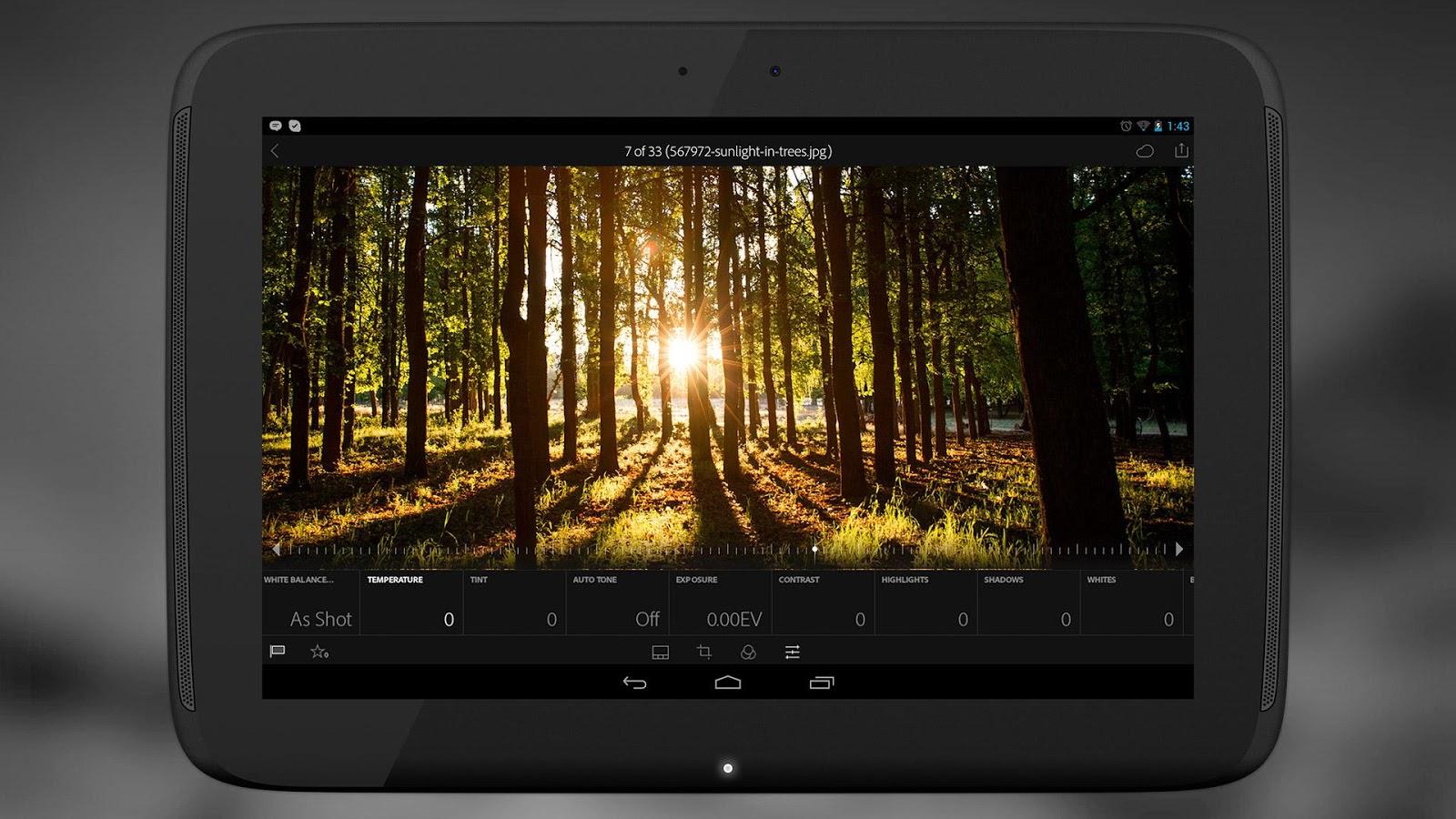 Adobe Lightroom pour Android en version 1.2 mise sur l'amélioration de ses performances