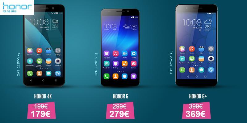 Bon plan : 30 euros de réduction sur le Honor 6+, 20 euros sur les Honor 4X et Honor 6