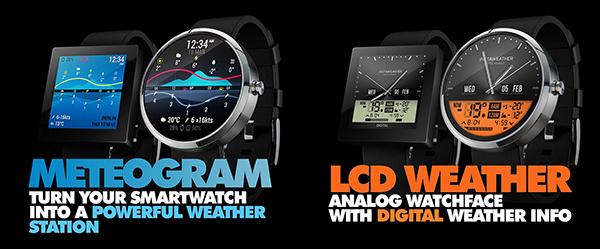 InstaWeather : des cadrans Android Wear pour les amoureux de la météo