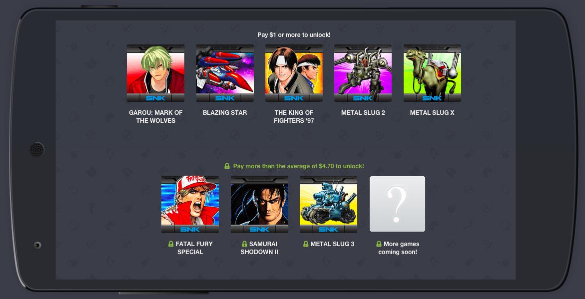 Humble NEOGEO Mobile Bundle pour faire le plein de jeux SNK