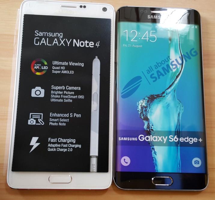 Samsung Galaxy S6 EDGE+ : un modèle factice dévoile un gabarit similaire au Galaxy Note 4