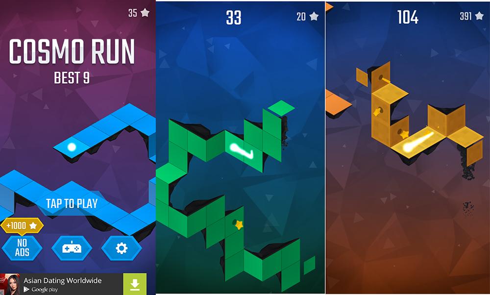 Cosmo Run : un runner-game dans un monde changeant