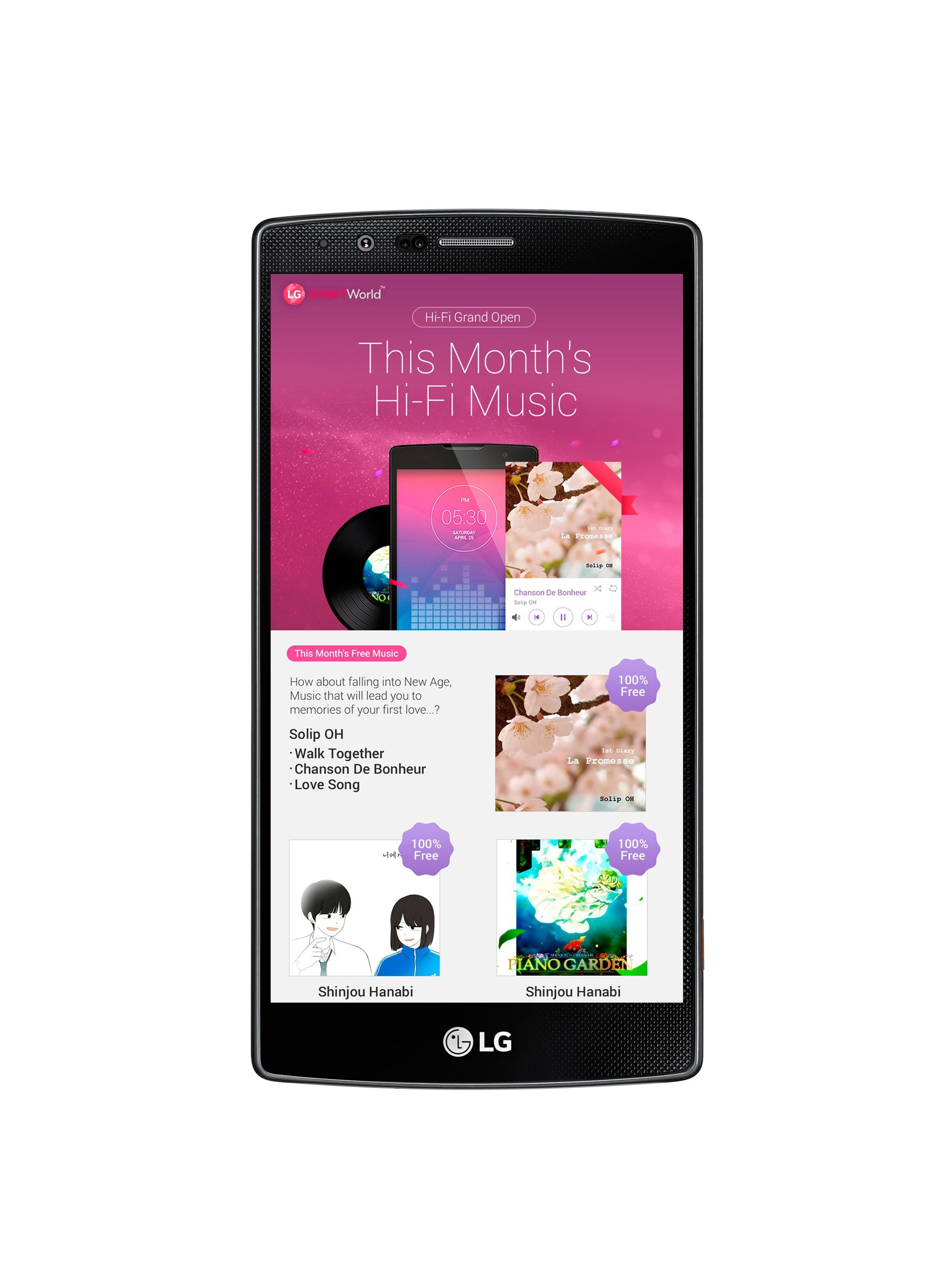 LG lance un service de musique Hi-Fi sur ses smartphones haut de gamme