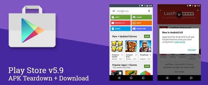 Google Play Store 5.9 se prépare à l'arrivée d'Android 6.0 Marshmallow