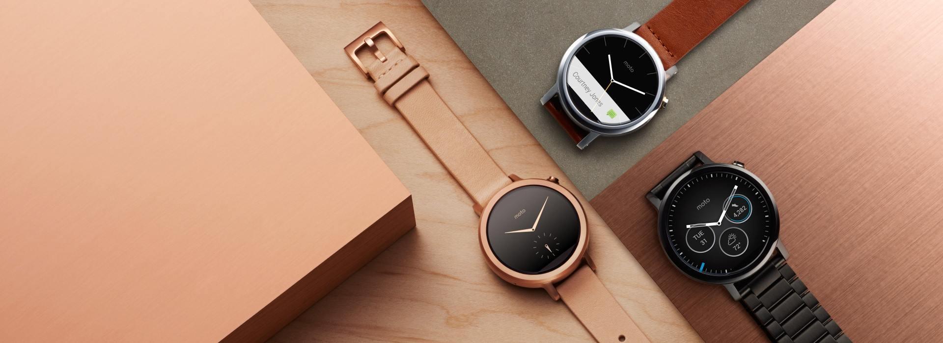 Le prix des trois Motorola Moto 360 (2015) «classiques» apparaît chez les revendeurs