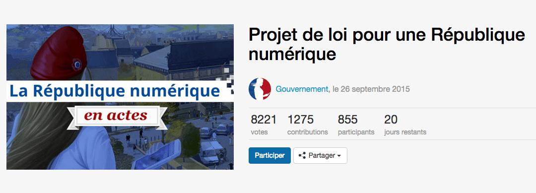 Loi pour une République Numérique : une méthode participative 2.0