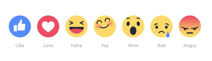Sur Facebook, les emojis viendront s'ajouter au Like dans les prochaines semaines