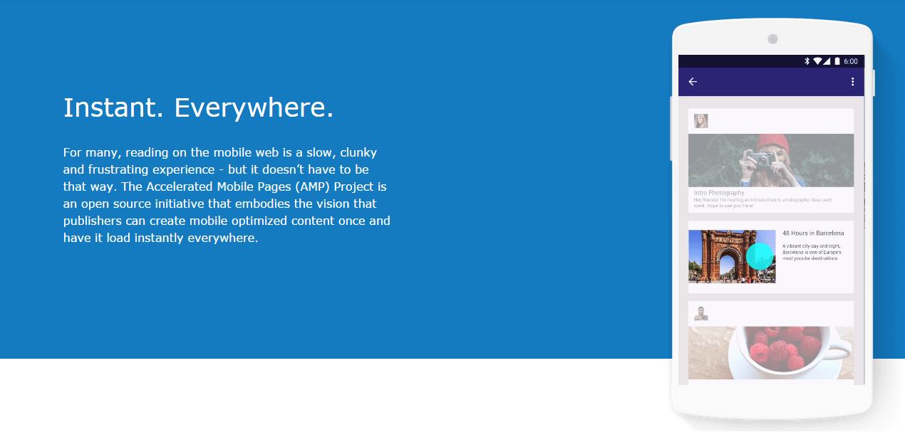 Google dévoile le projet Accelerated Mobile Pages pour afficher les pages web instantanément
