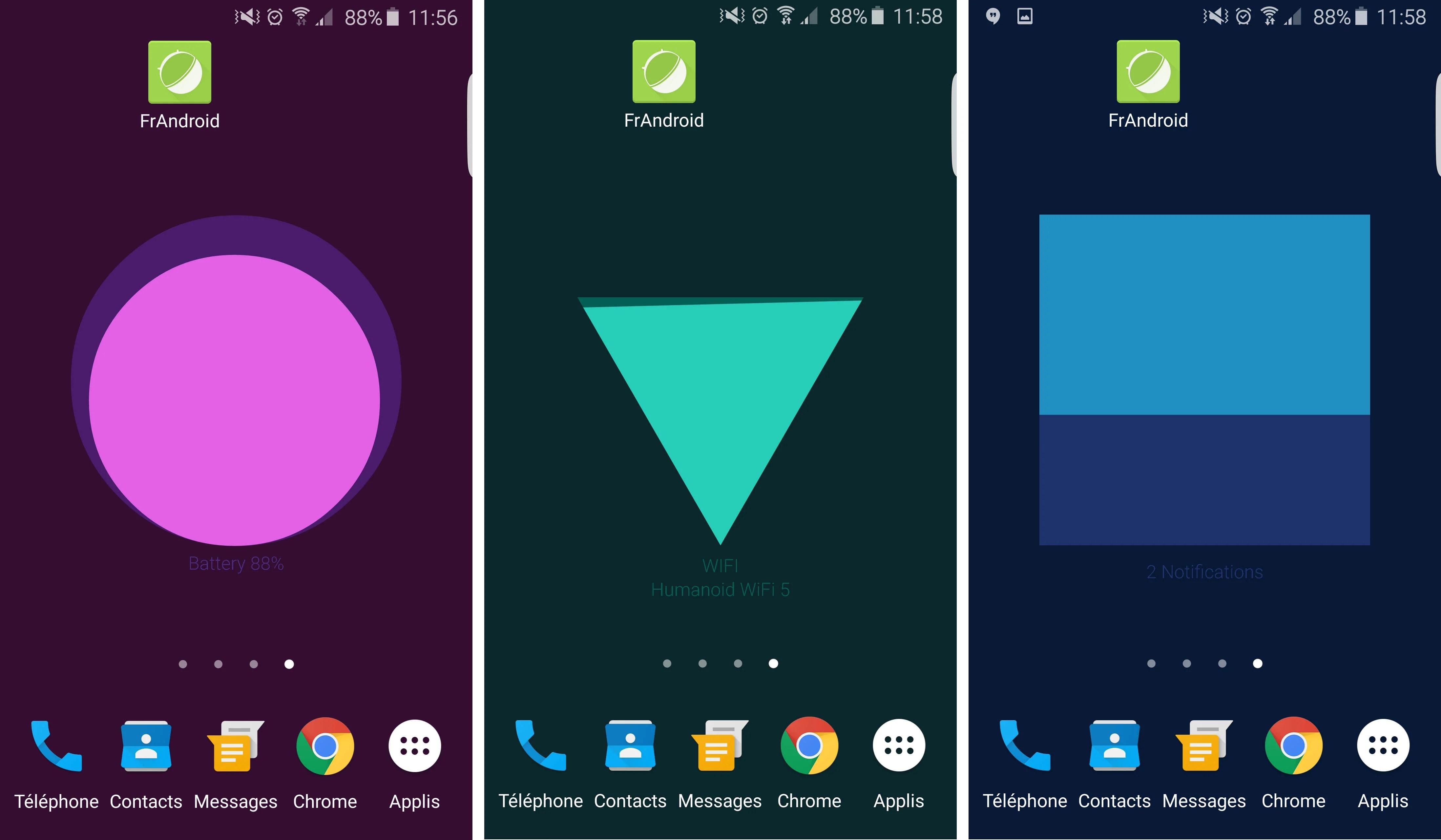 Google Meter : un fond d'écran animé pour afficher des statistiques du téléphone
