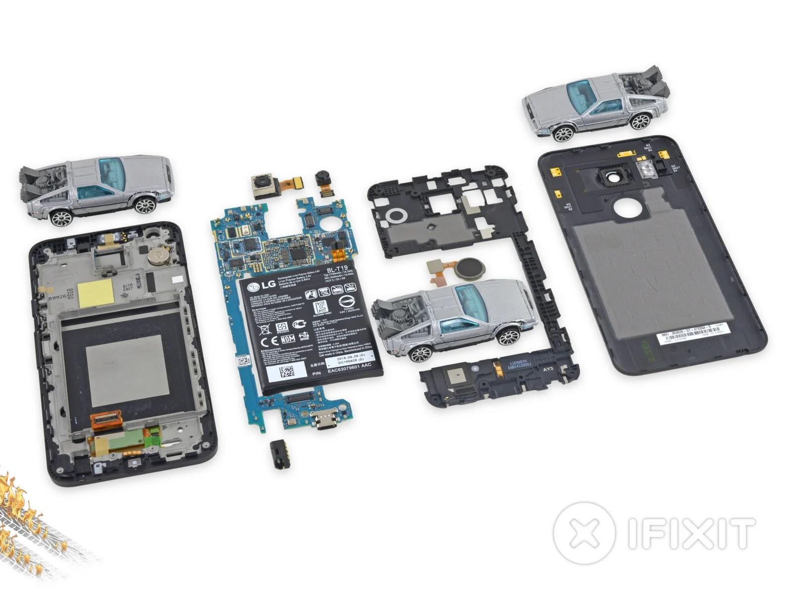 Le Nexus 5X passe chez iFixit : il est un peu moins facile à démonter que son prédécesseur