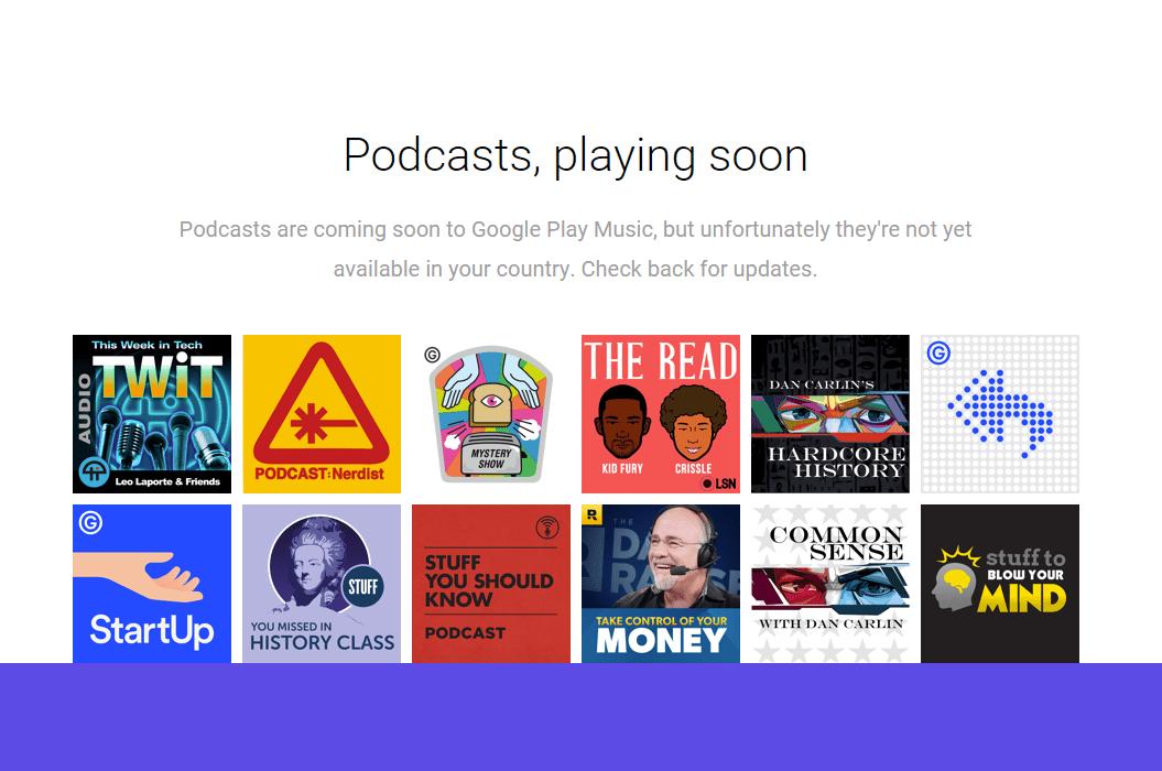 Les podcasts devraient arriver sur Google Play Musique dès ce mois-ci