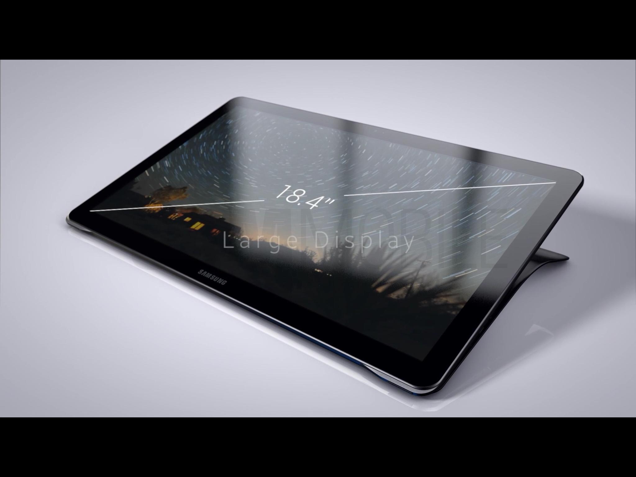 Samsung Galaxy View : une dizaine d'images en fuite pour cette tablette de 18,4 pouces