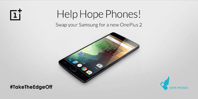 OnePlus vous propose d'échanger votre smartphone Samsung à plus de 600 euros contre un OnePlus2