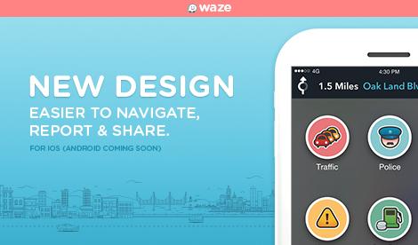 Waze se met à jour et change d'interface pour la première fois depuis son rachat par Google
