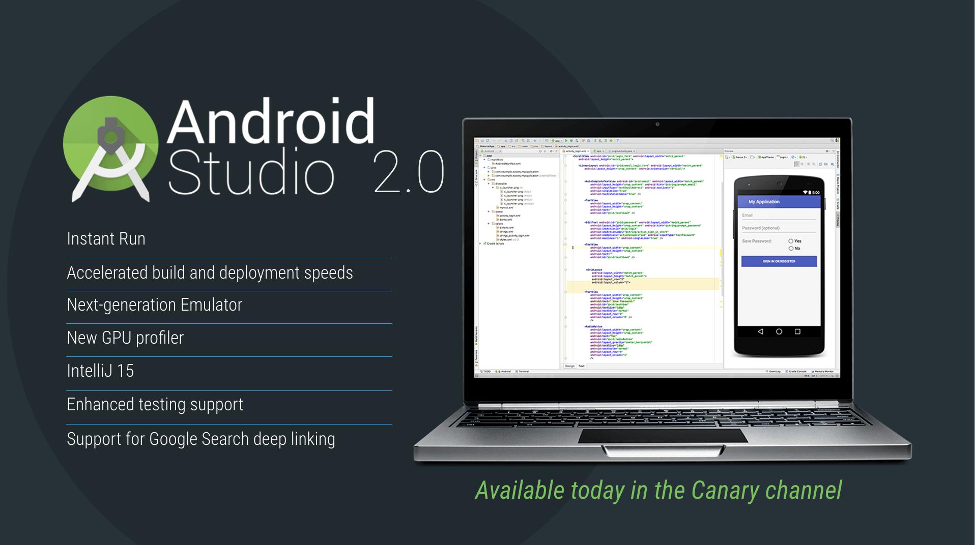Android Studio Preview 2.0 : l'instant run pour accélérer le développement